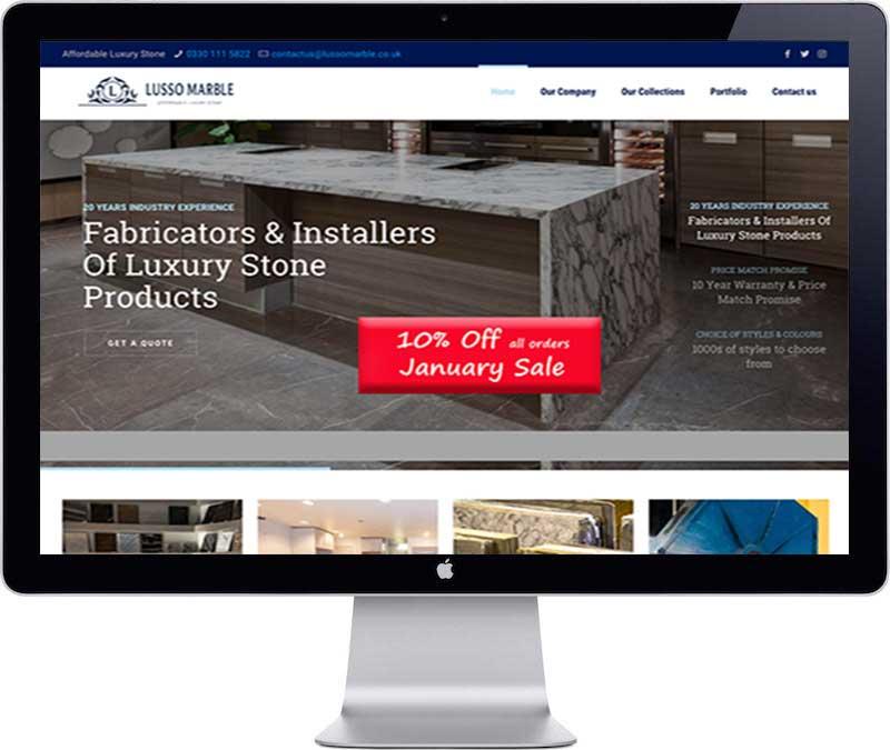 LussoMarble Website Design