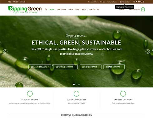 Sipping Green Website Design