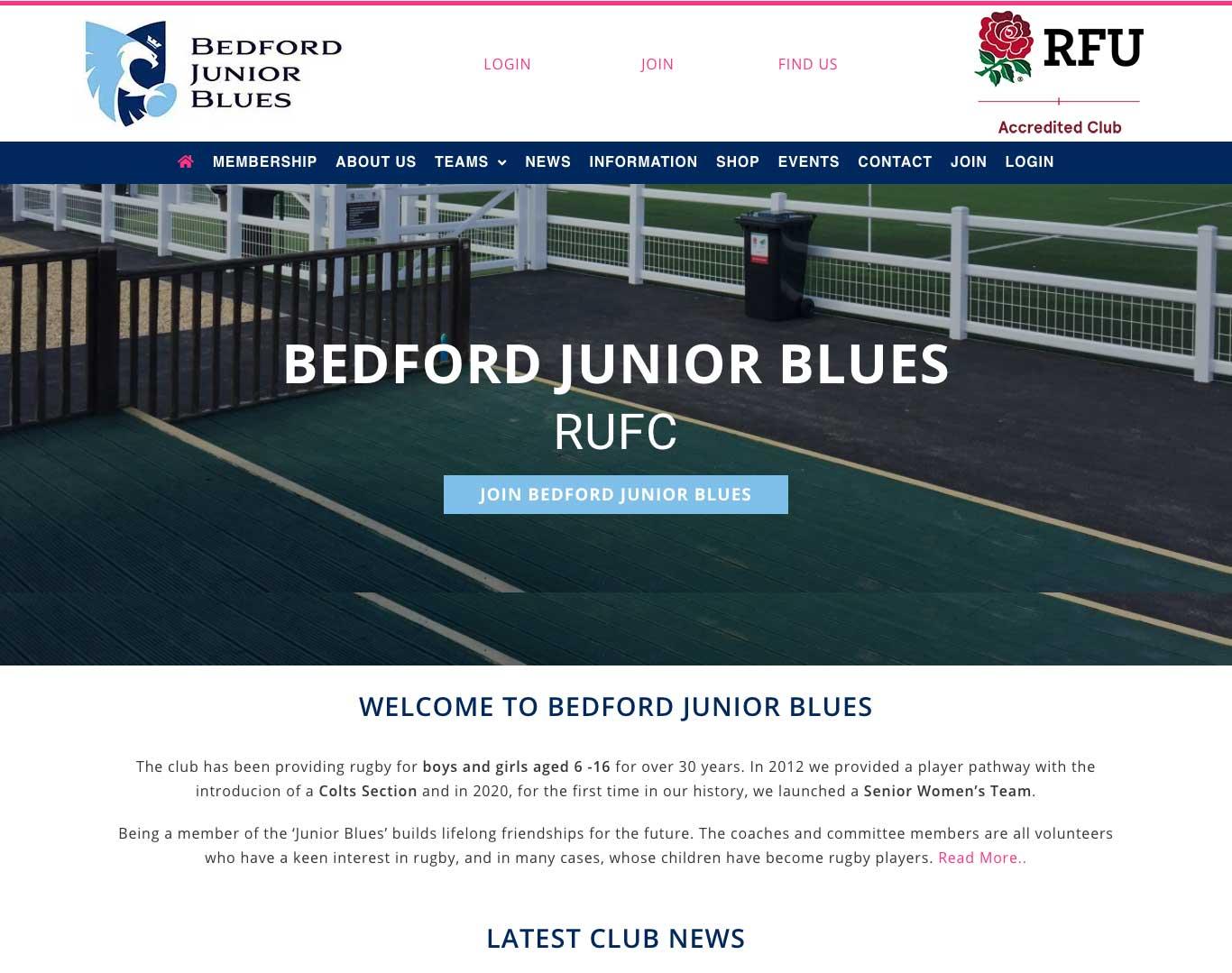 Bedford Junior Blues Website
