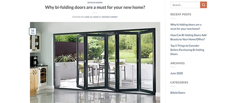 Bedford BiFolds Website Design