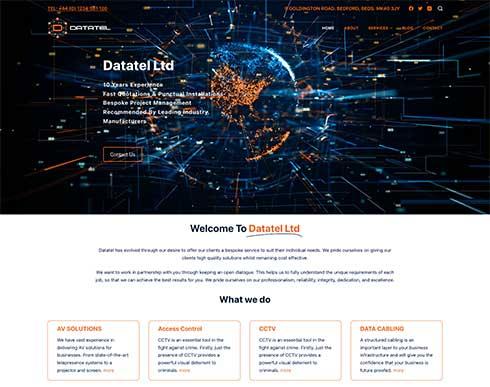 Datatel Ltd Website Design