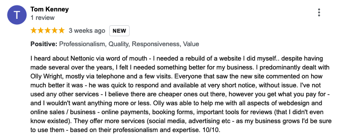 Website Review Bedford